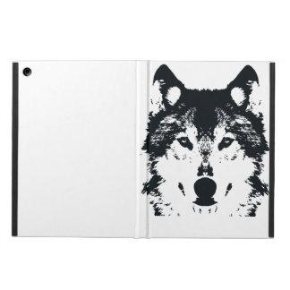 Illustration Black Wolf Case For iPad Air