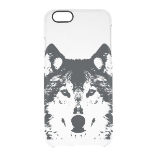 Illustration Black Wolf Clear iPhone 6/6S Case