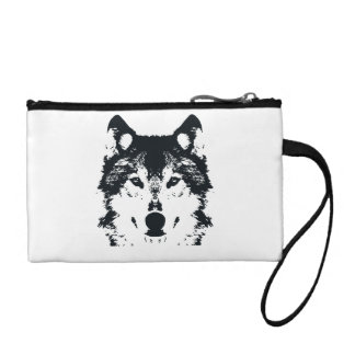 Illustration Black Wolf Coin Purse
