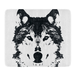 Illustration Black Wolf Cutting Board