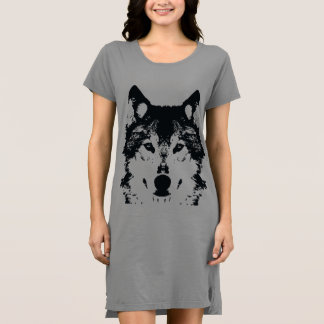 Illustration Black Wolf Dress