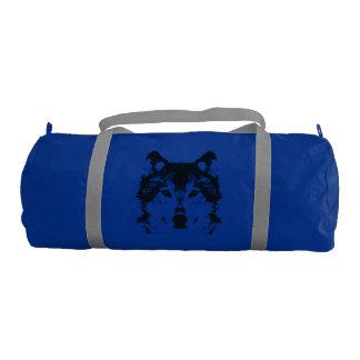 Illustration Black Wolf Gym Bag