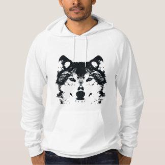 Illustration Black Wolf Hoodie