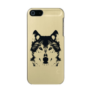 Illustration Black Wolf Incipio Feather® Shine iPhone 5 Case