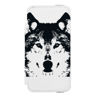 Illustration Black Wolf Incipio Watson™ iPhone 5 Wallet Case