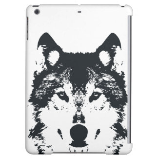 Illustration Black Wolf iPad Air Cover