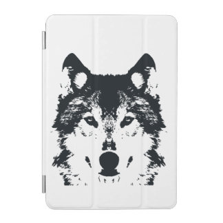 Illustration Black Wolf iPad Mini Cover