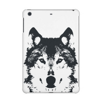 Illustration Black Wolf iPad Mini Retina Cover