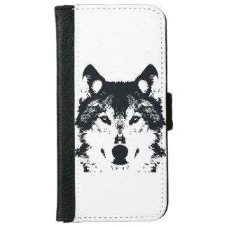 Illustration Black Wolf iPhone 6 Wallet Case