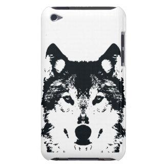 Illustration Black Wolf iPod Case-Mate Cases