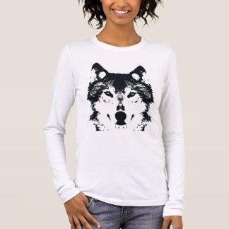 Illustration Black Wolf Long Sleeve T-Shirt