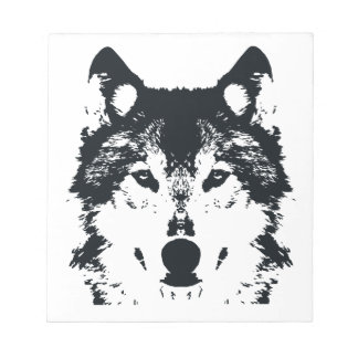 Illustration Black Wolf Notepad