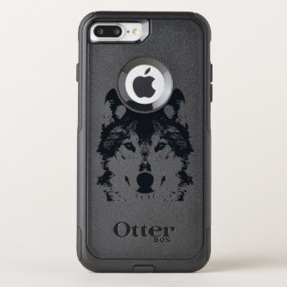 Illustration Black Wolf OtterBox Commuter iPhone 8 Plus/7 Plus Case