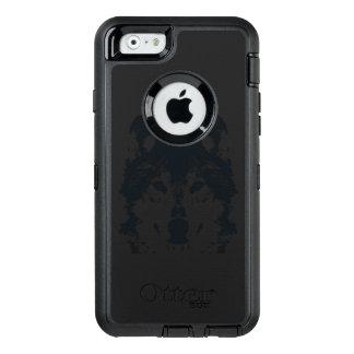 Illustration Black Wolf OtterBox Defender iPhone Case