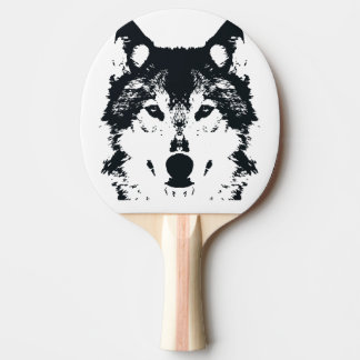 Illustration Black Wolf Ping Pong Paddle
