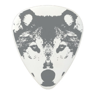 Illustration Black Wolf Polycarbonate Guitar Pick