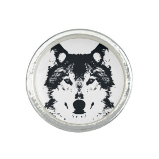 Illustration Black Wolf Ring