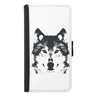 Illustration Black Wolf Samsung Galaxy S5 Wallet Case