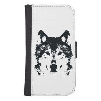 Illustration Black Wolf Samsung S4 Wallet Case