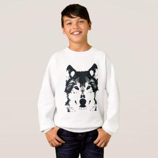 Illustration Black Wolf Sweatshirt