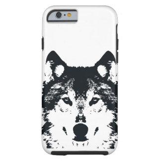 Illustration Black Wolf Tough iPhone 6 Case