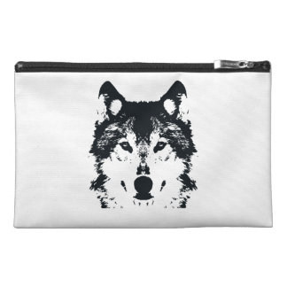 Illustration Black Wolf Travel Accessory Bag