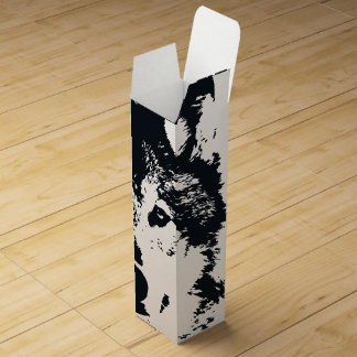 Illustration Black Wolf Wine Box