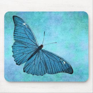 Illustration bleue turquoise vintage de 1800s de p tapis de souris