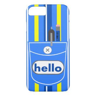 illustration blue pocket pen pencil iPhone 7 case