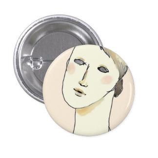 Illustration can batch. 1 inch round button