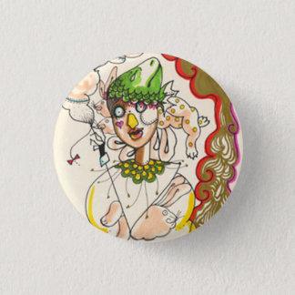 Illustration can batch. 1 inch round button