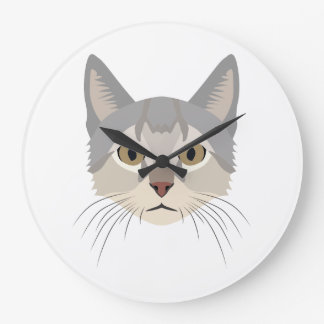 Illustration Cat Face Clocks