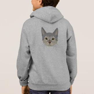 Illustration Cat Face Hoodie