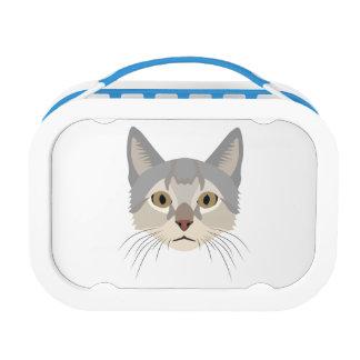 Illustration Cat Face Lunchbox