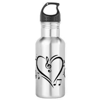 Illustration Clef Love Music 532 Ml Water Bottle