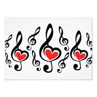 Illustration Clef Love Music Card