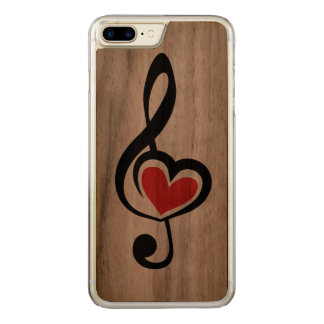 Illustration Clef Love Music Carved iPhone 7 Plus Case