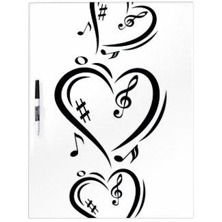 Illustration Clef Love Music Dry Erase Board