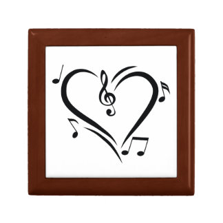 Illustration Clef Love Music Gift Box