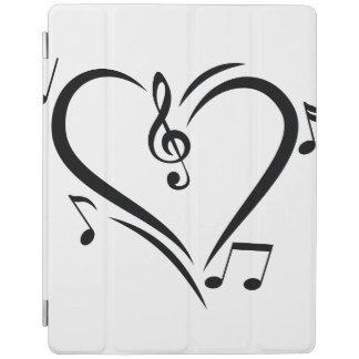 Illustration Clef Love Music iPad Cover