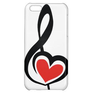 Illustration Clef Love Music iPhone 5C Cases
