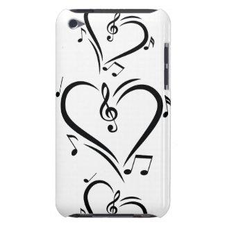 Illustration Clef Love Music iPod Case-Mate Case