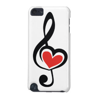 Illustration Clef Love Music iPod Touch 5G Covers