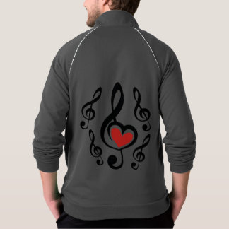 Illustration Clef Love Music Jacket