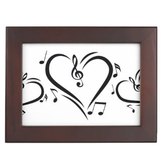 Illustration Clef Love Music Keepsake Box