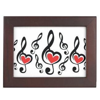 Illustration Clef Love Music Keepsake Boxes