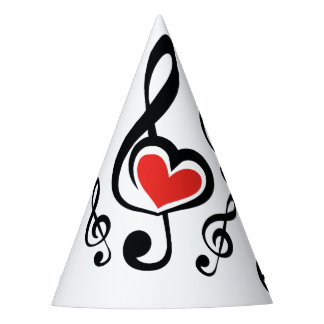 Illustration Clef Love Music Party Hat