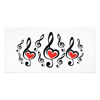 Illustration Clef Love Music Photo Greeting Card