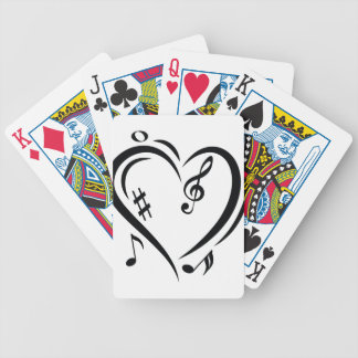 Illustration Clef Love Music Poker Deck