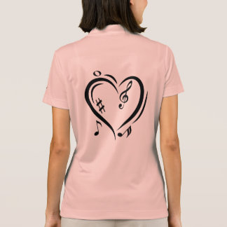 Illustration Clef Love Music Polo Shirt